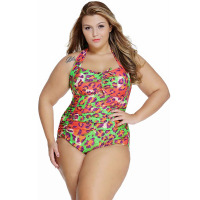 2016 Green Plus Size Monokini open full sex bikini swimwear xxx photos