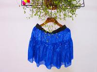 wholesale women sequin running skirts royal blue skirt
