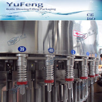 King quality automatic PP/ABS/PVC/PS bottle engine oil filling equipment