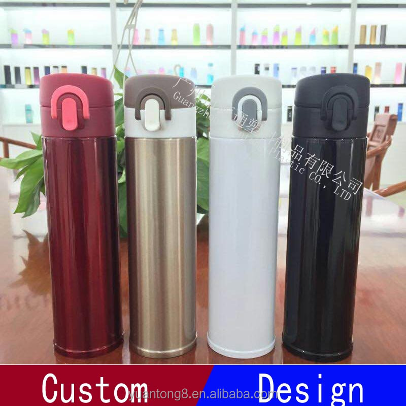 White color 500ml heat insulation stainless steel bottle for student