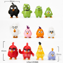 Birds Movie Action Figure Toys 3-5 cm PVC A-Birds Figure Model Doll Toys For Children Kids Brinquedos