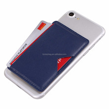 Promotion gift Smart Phone Wallet Pocket Backed on Cell Phone