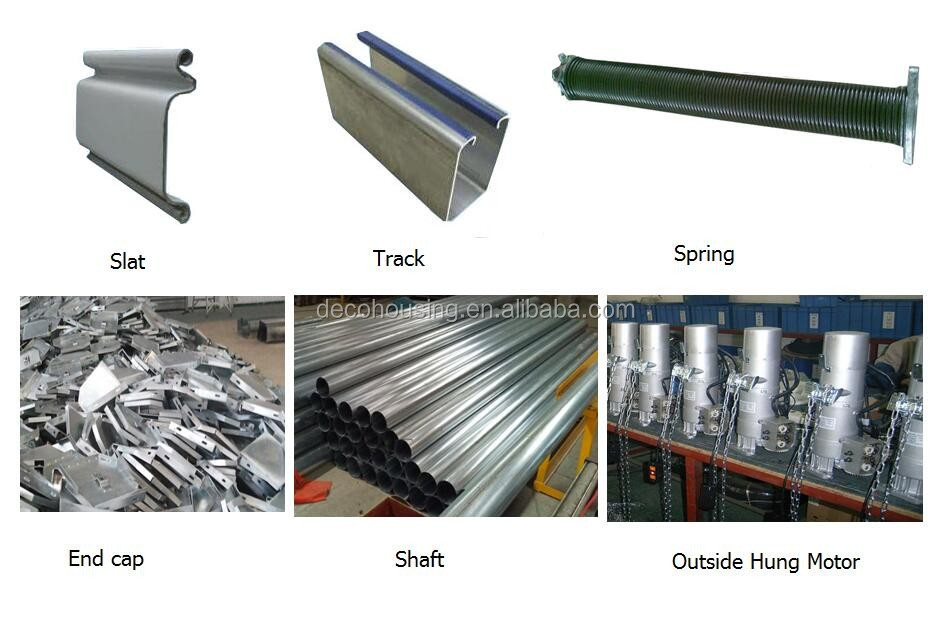 Industrial security automatic galvanized steel roller for Roller shutter motor installation