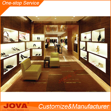 good looking shoes shop interior design wood main material