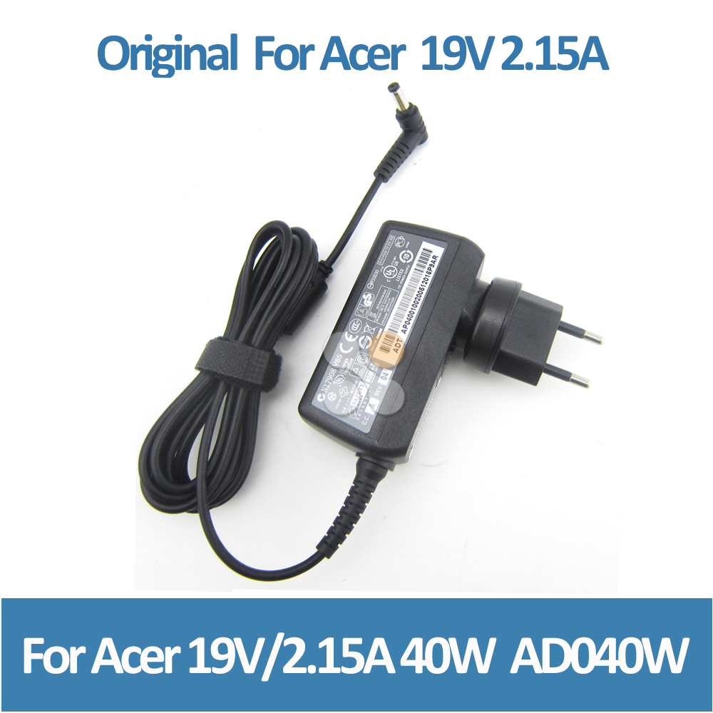 China big supplier supply laptop adaptor for Acer 19V 2.15A 40W V5 E3 E5 Es1 V5-121 V5-122p V5-123 V5-131