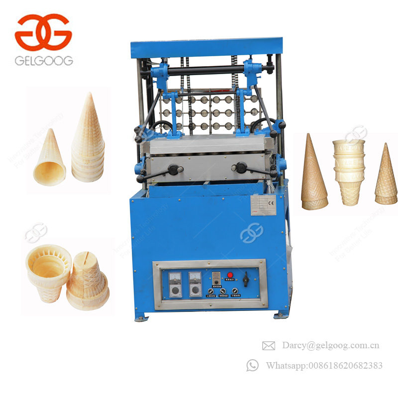 High Production Snow Pizza Cone Maker Making Icecream Wafer Baking Machine Cream Cones For Sale