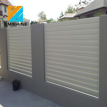 Different Types Picket Metal Fence Fixed Louver Fences