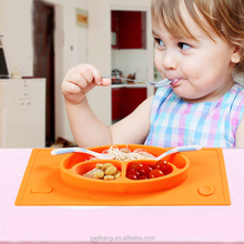 Food-grade Baby Dining Plate Table Silicone Placemat for <strong>Kids</strong>