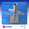 Hot or pre galvanized scaffolding shoring jack base supporting scaffold