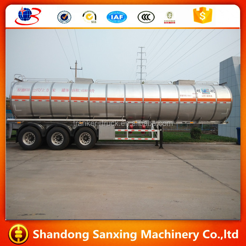 fuel tanker semi trailer truck trailer with chassis