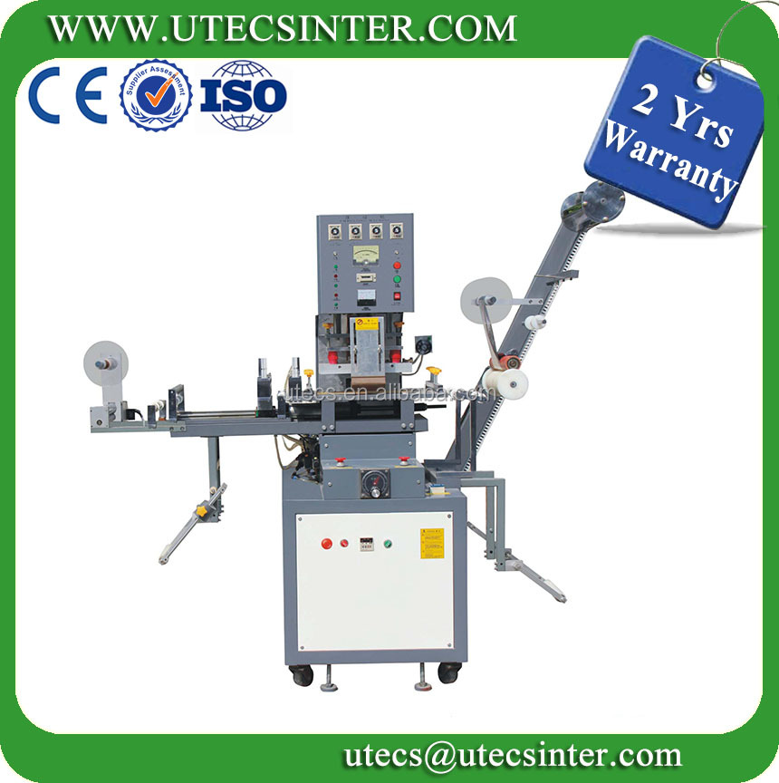 2 Yrs Warranty UT200 Automatic Textile Fabric Label Embossing Machine with Hot Stamping
