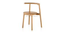 wooden stack dining chair for cafe restaurant used