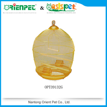 Gold Color Round Wire Bird Cage 48*76.5cm Pet