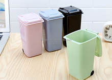 promotional plastic mini dustbin for desk
