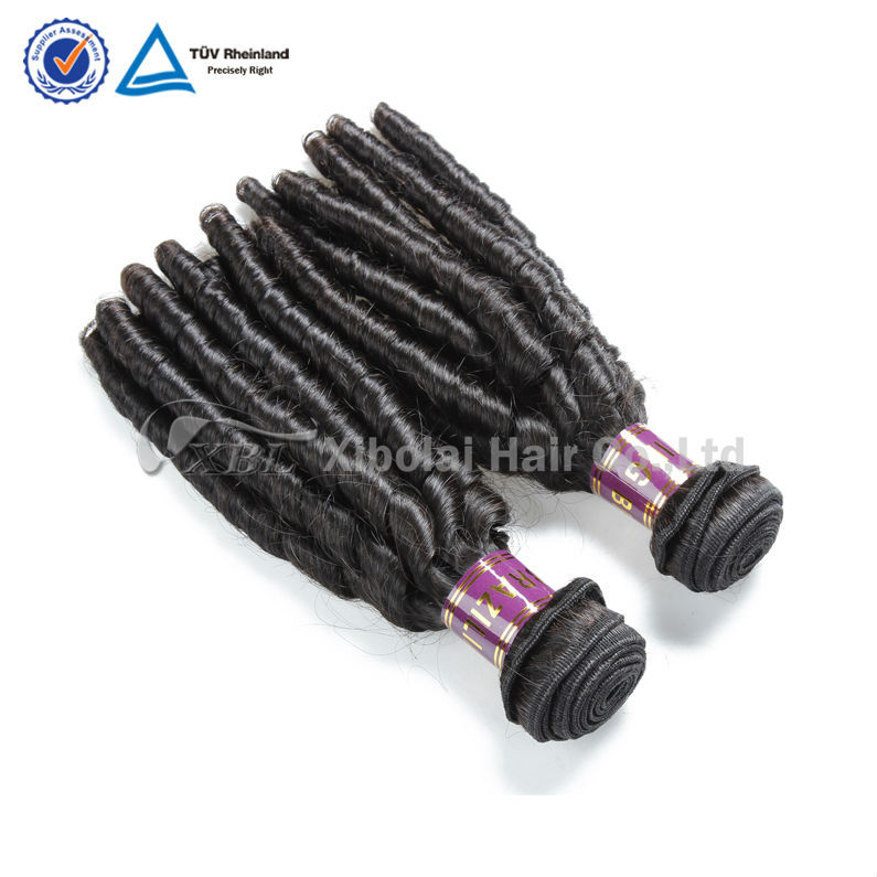 Professional China hair supplier virgin Brazilian spiral curl hair extensions unprocessed virgin Brazilian curly hair