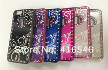 Aluminium Bling Diamond Crystal Chrome Hard Case Cover for Apple iPhone 5C Back Phone Cover