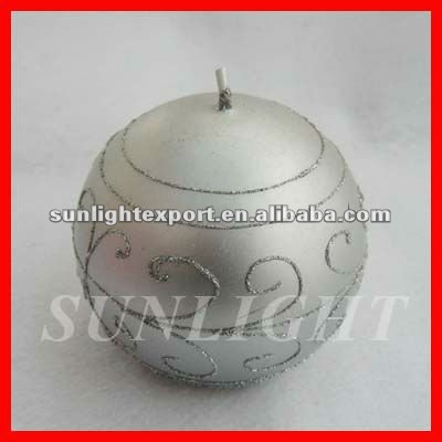 silver round ball candles,christmas candles,holiday decorative candles