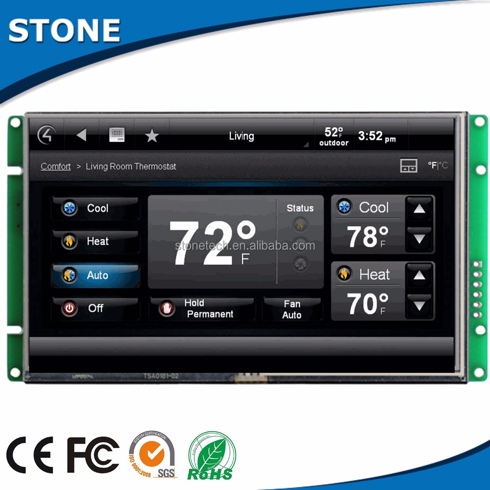 3 year warranty mini temperature touch screen lcd controller w/PCB Adapter/SD Socket