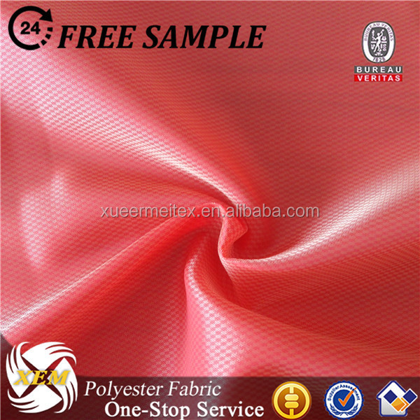 Polyester cationic dobby taffeta fabric for linging