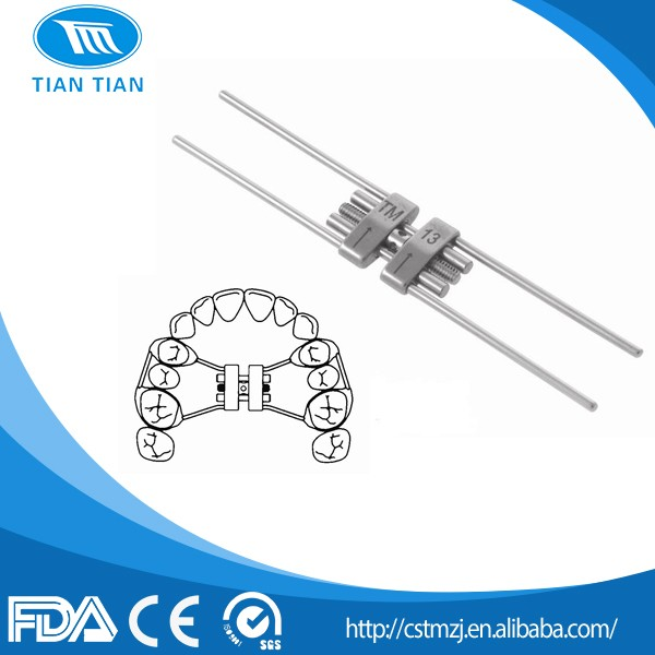 Dental Orthodontic Instruments Stainless Stell Grade Expansion Screw