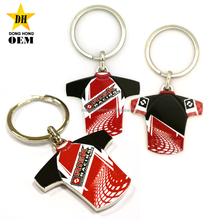 cool cheap custom digital printing car racing t shirt shaped keychains