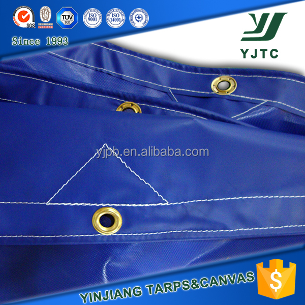 blue 18 oz Heavy duty Vinyl Tarps,pvc fire retardant tarpaulin