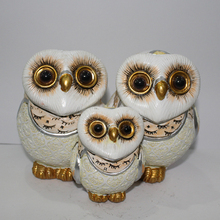 Creative resin crafts home decoration small Resin owl family