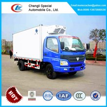 Foton refrigerator van truck for vegetables refrigerator cooling van for sale
