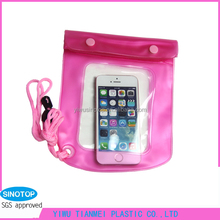 big size eco-friendly PVC material waterproof bags for mobile phone