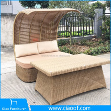 Charming Wooden Outdoor Daybed