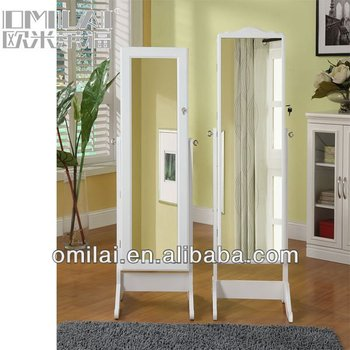 2013 fashion white black wooden antique cheap jewelry armoire full length mirror cheval mirror