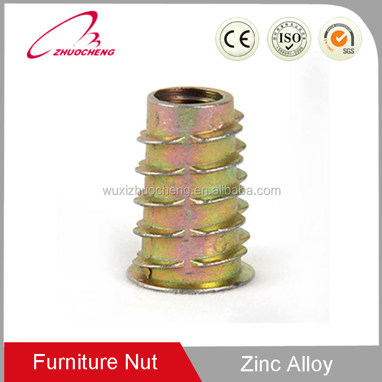 Bottom Price zinc plated M4 M10 self tapping wood insert nut