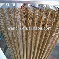 restaurant compartment curtain mesh/brass dutch woven wire mesh/super quality decorative perforated metal screen