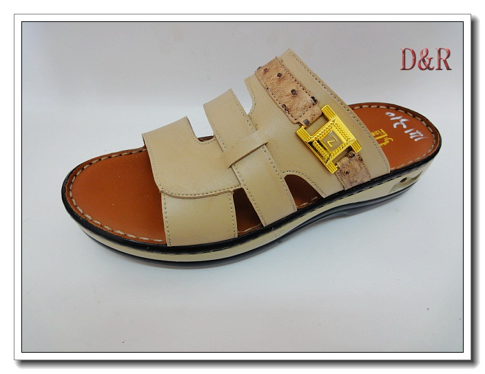 New arrival arabic leather man slippers sandals