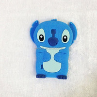 2015 cartoon stitch customized silicone phone case /soft skin cover