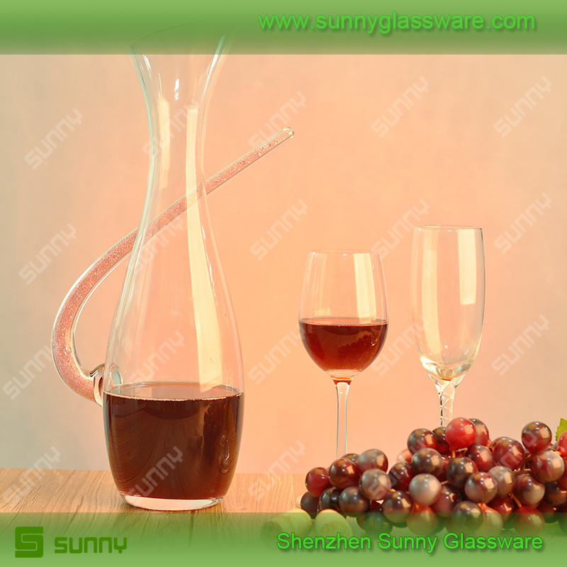 2015 Mouth Blown Red Wine Glass Decanter