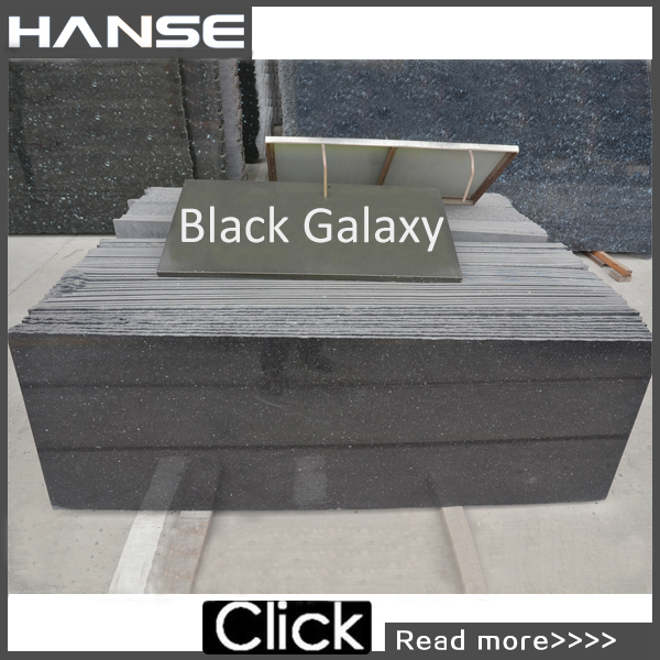 HS-B600 crushed stone cheap for sale black granite tile