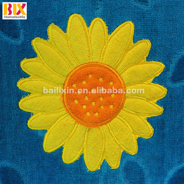 High Quality sun flowers cheapest customer 100% cotton bath towels supplier in china