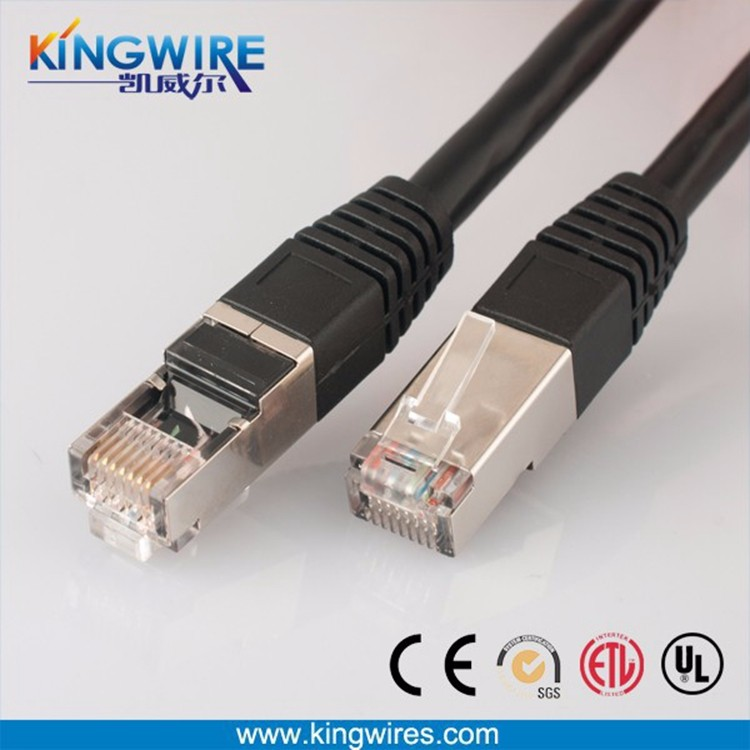 Highly flexible flat cable 32awg cat7 hot sale rj45 SSTP patch cord