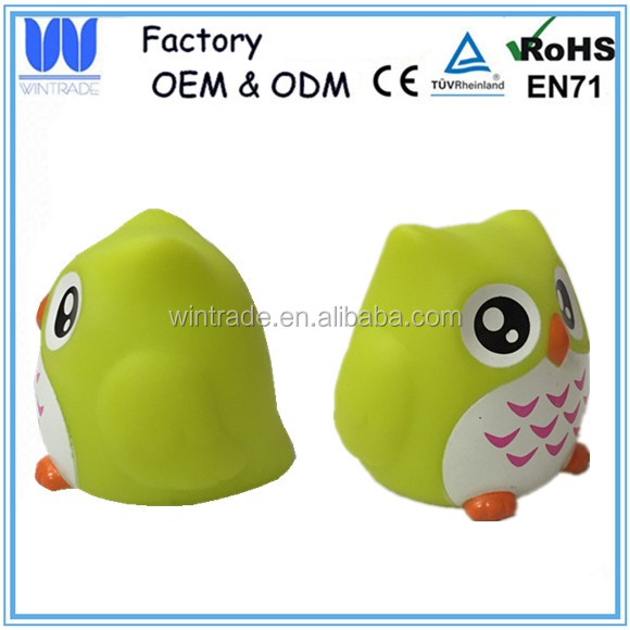 Custom making vinyl toy owl shape small plastic toy