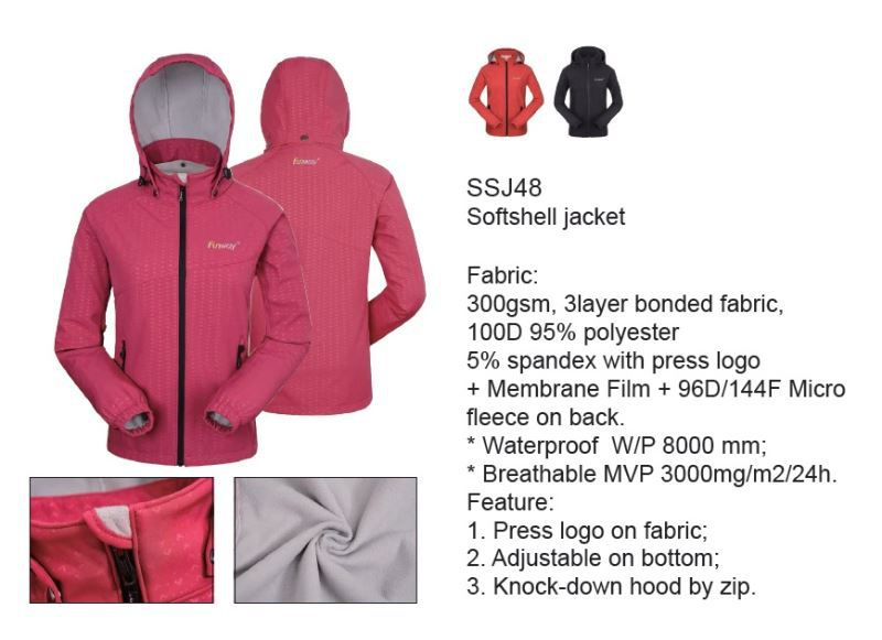 Provide OEM service unisex men's 10000mm waterproof softshell jacket