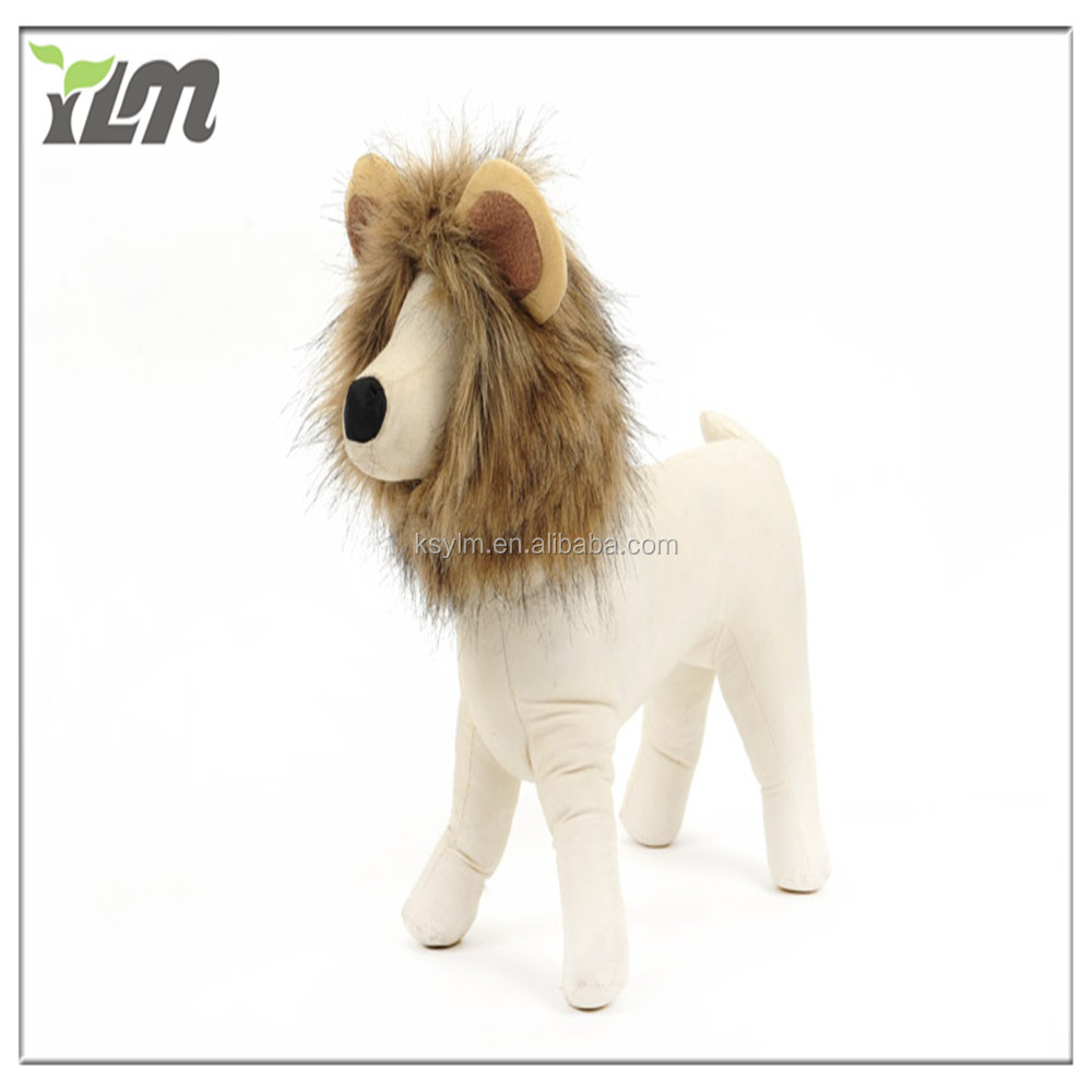 Pet Costume Lion Mane Wig for Halloween dress up with ears Dog Cat hat