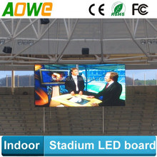 Indoor sports stadium led billboard/led display panel for football basketball place
