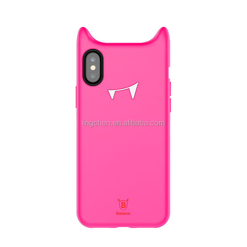 Baseus Silicone smart Baby Devil Cell Phone Accesories Case Cover for iPhone X