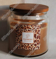 storage jar candle with a wood lid