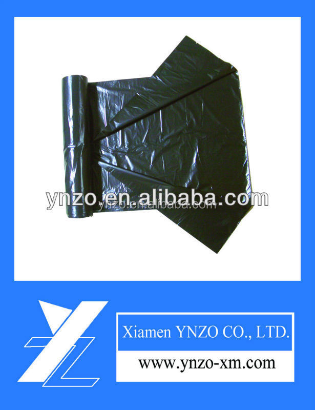 HDPE bio-degradable black side gusset trash bag on roll