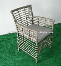 Round PE rattan outdoor patio chairs