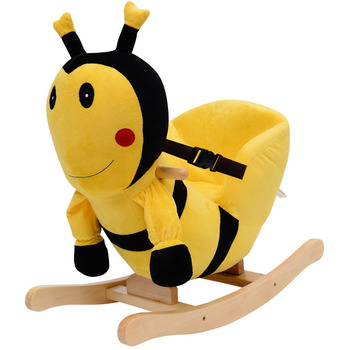 Kids Plush Rocking Chair, House-style Bumble Bee Chair