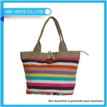 High quality wholesale custom multi beauty tote bag cotton canvas