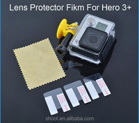 Cheap Camera Transparent Front Film Lens Protector 3pcs Guard for GoPro Hero 3 3+